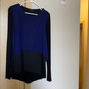 Black and blue Elie Tahari top